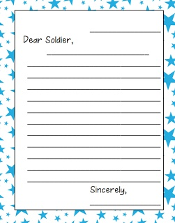 Writing letters to soldiers overseas