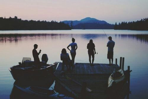 Summer nights by the lake