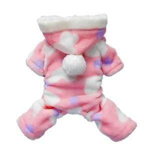 Manteau rose bonbon pour chien Vêtements pour chien Combinaison souple Cozy Vêtements Pet Coat Pet 5 Tailles Caractéristique: Perfit pour porter tous les jours, des vacanc