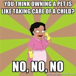 Consuela Family Guy - You think owning a pet is like taking care of a child? No, NO, NO