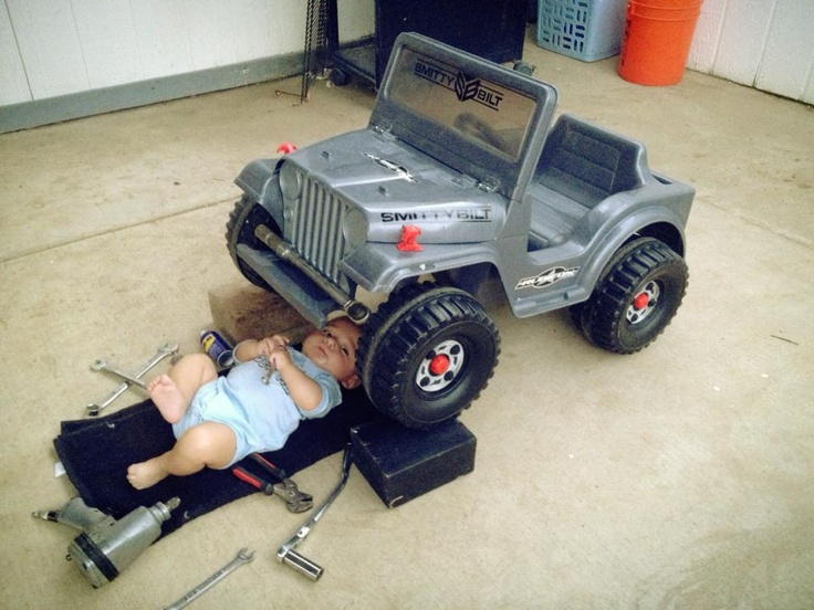 We start 'em young at Smittybilt! Here is our very own Chris Osuna's boy...already customizing his Smittybilt Jeep!