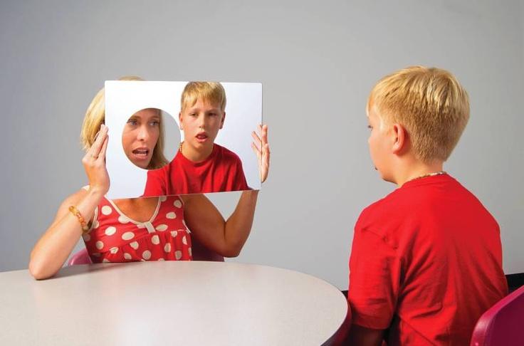 Abilitations Speech Bin Look At Us Mirror - 12 x 17 1/2 - SCHOOL SPECIALTY