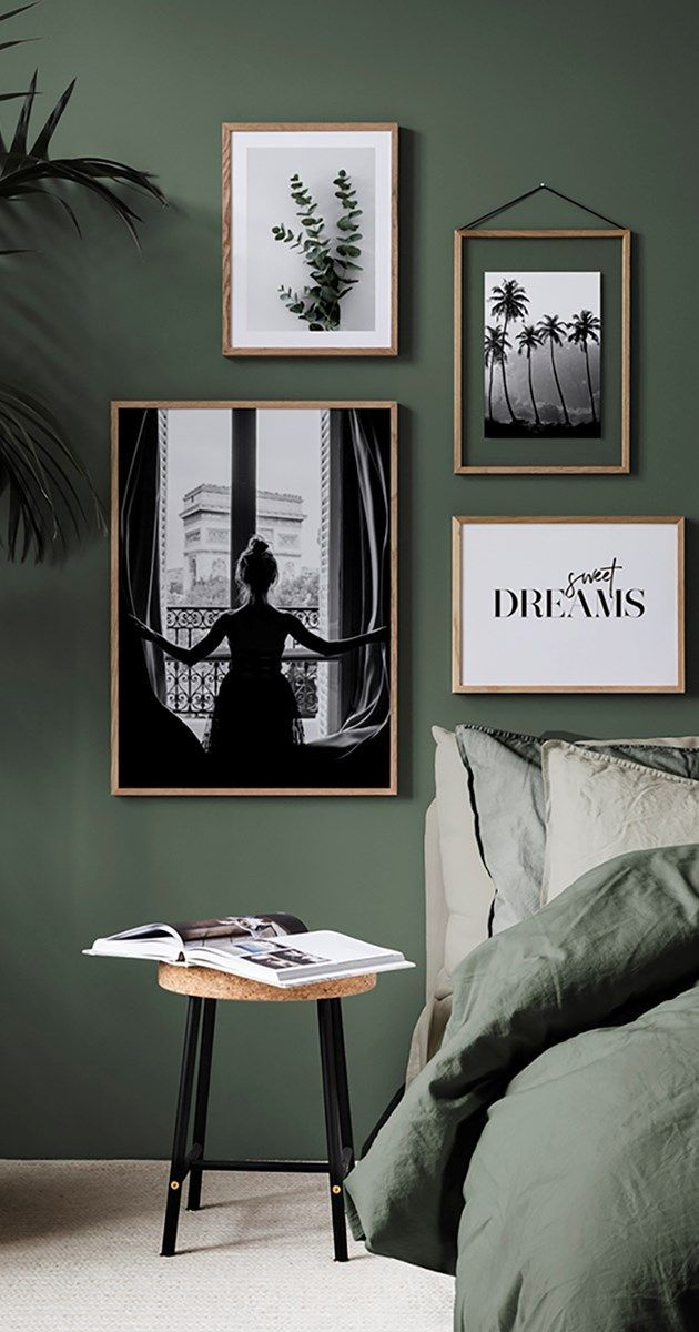 Green in the bedroom is the trend of 2018! On the wall or on your bed, green is …