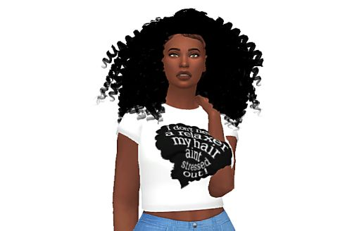 Here it is!  Thank you so much for your follows and likes it means so much to me!  You guys keep me motivated to keep going.  If you were a tester you still need to download this one because the older file conflicts with accessories.  Tag me if you use this hair and happy simming!
