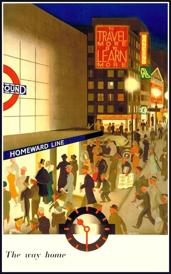 London Underground 1920s Homeward Line by BloominLuvly on Etsy