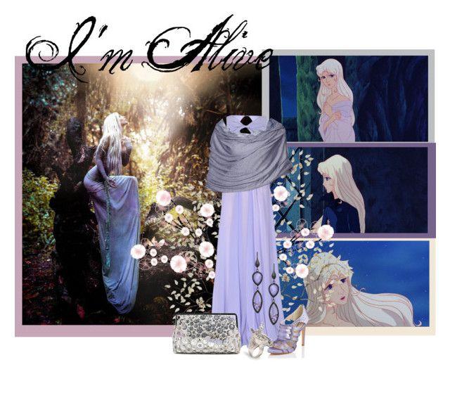 """The Last Unicorn: Lady Amalthea"" by rayita-jq ❤ liked on Polyvore featuring Disney, Molly Bracken, Sarah's Bag, L.K.Bennett, Urban Posh, LeiVanKash, fantasy, unicorn, thelastunicorn and ladyamalthea"