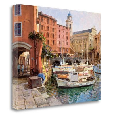 Tangletown Fine Art 'Mediterranean Colors' by George Bates Painting Print on Wrapped Canvas