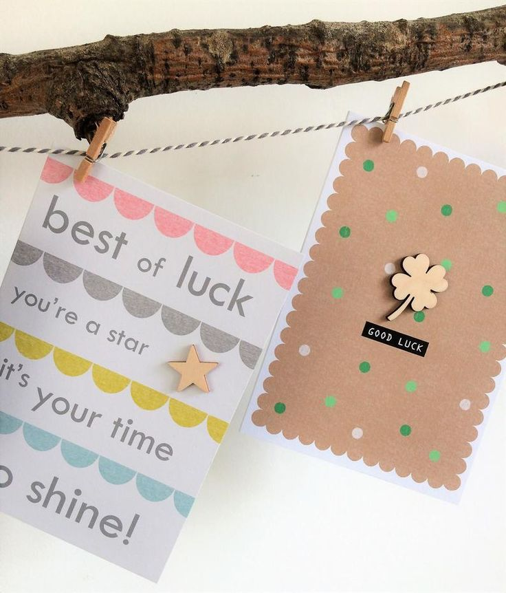 Good luck card handmade card best of luck etsy in 2020