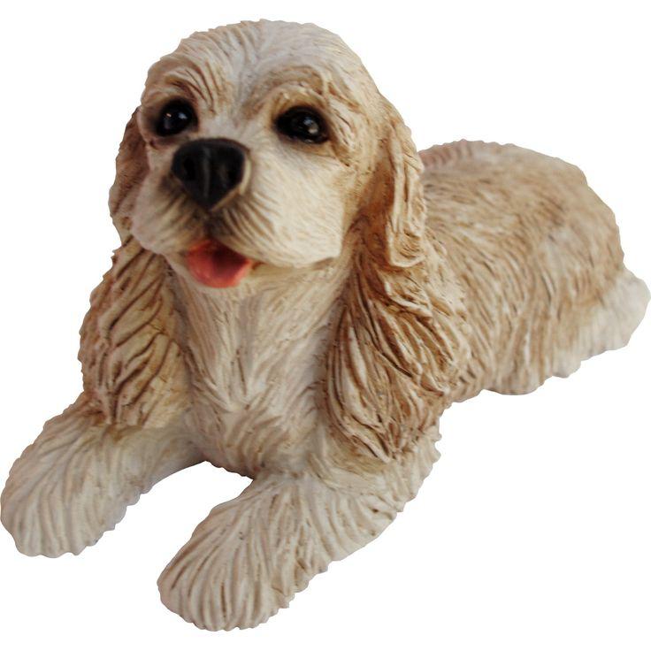 "Sandicast ""Small Size"" Standing Buff Cocker Spaniel Dog"