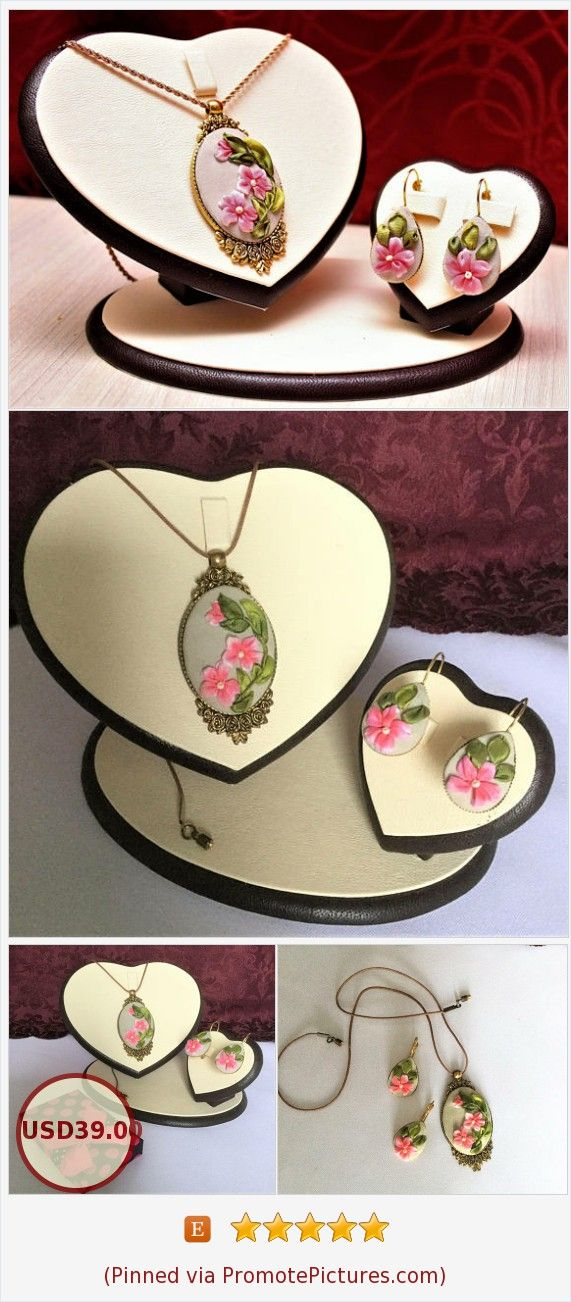 Pendant and earrings Ribbon embroidery Hand embroidered jewelry Flower necklace and earrings Pendant pink flowers Decoration for women https://www.etsy.com/LucysRibbonCreations/listing/570543501/ribbon-embroidery-hand-embroidered?ref=shop_home_active_19 (Pinned using https://PromotePictures.com)