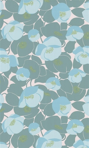 poppies: Butler Wallpapers, Contemporary Wallpapers, Half Bath, Ocean Wallpapers, Fields Poppies, Butler Fields, Poppies Wallpapers, Amy Butler, Wallpapers Design