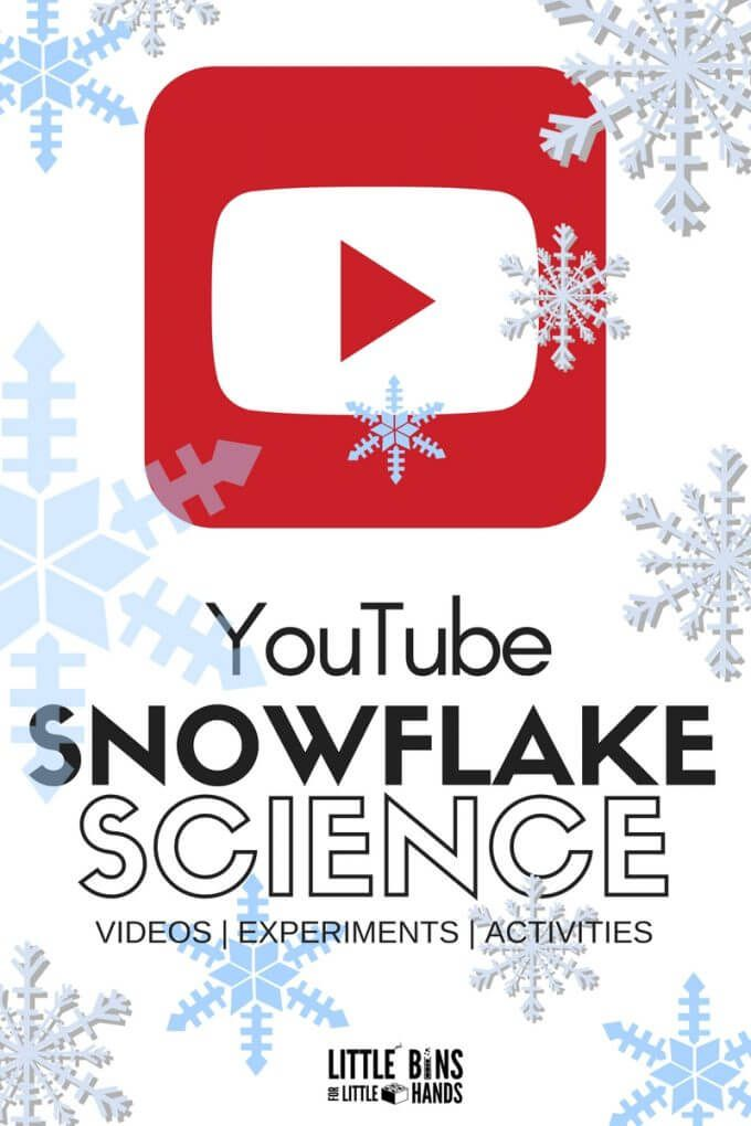 Snowflake science YouTube videos for kids and snowflake science activities for winter STEM