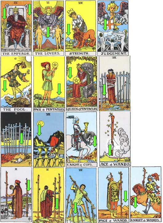 The very famous Rider Waite Tarot, artwork by Pamela Coleman Smith.    ...BTW,Please Check this out:  http://artcaffeine.imobileappsys.com