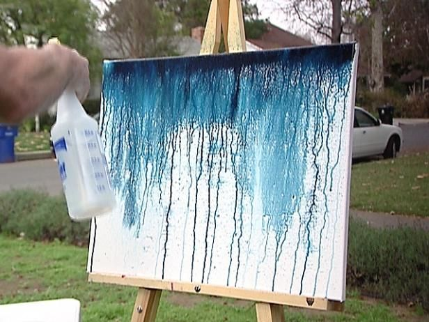 David Bromstad demonstrates one of his favorite painting techniques. From the experts at HGTV.com.