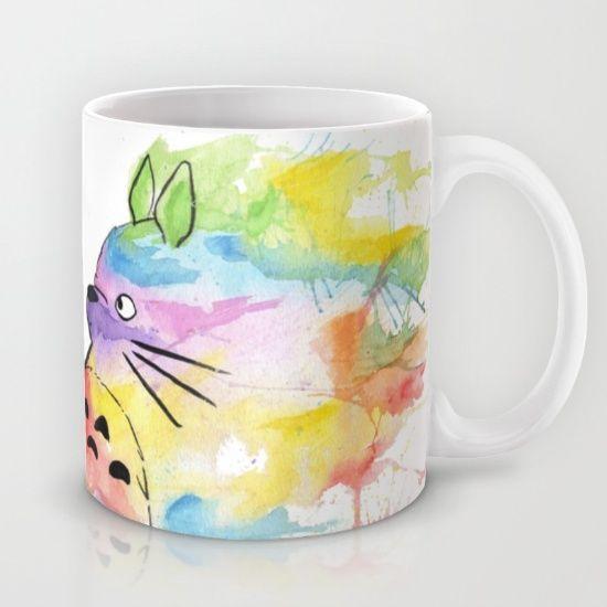 My+Rainbow+Totoro+Mug+by+Scoobtoobins+-+$15.00