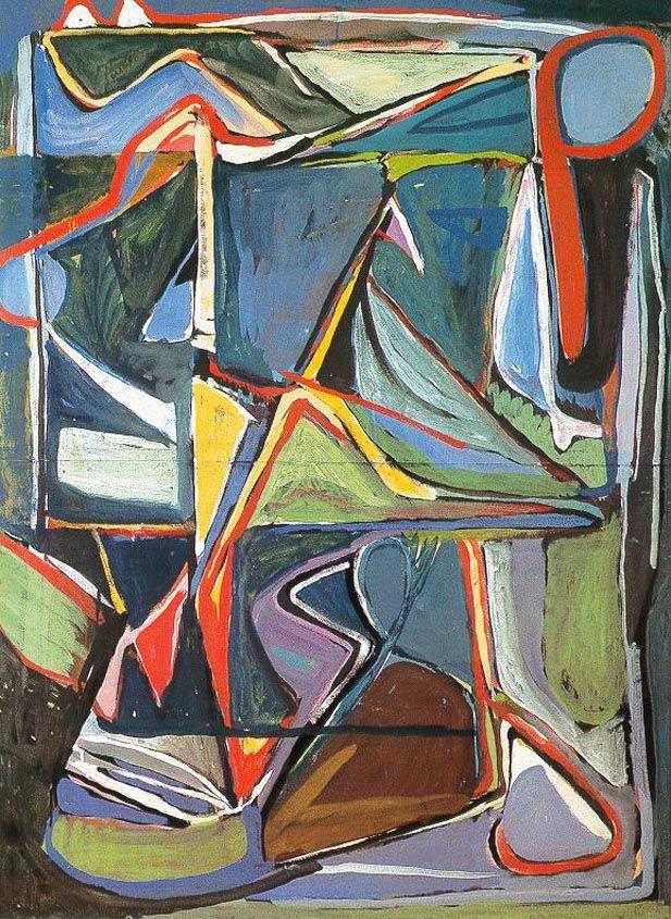 Zonder Titel, 1956, 146 x 108 cm, gouache op papier, Particuliere collectie