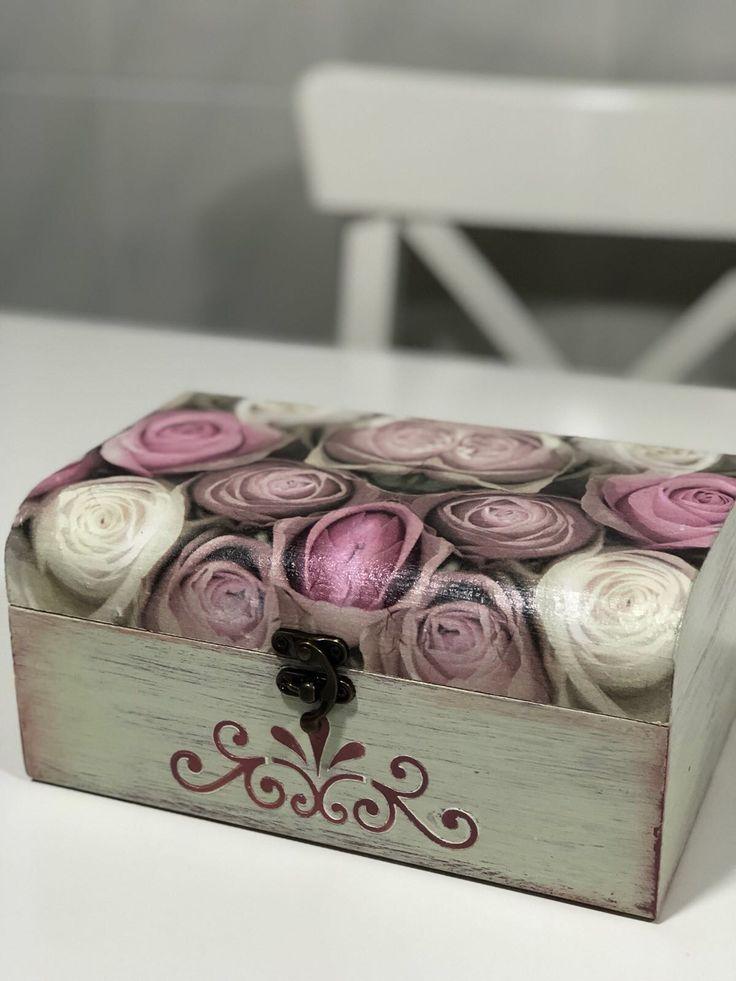Cajas decoradas decoupage #cajas #cajasdecoradas #decoupage #rosas