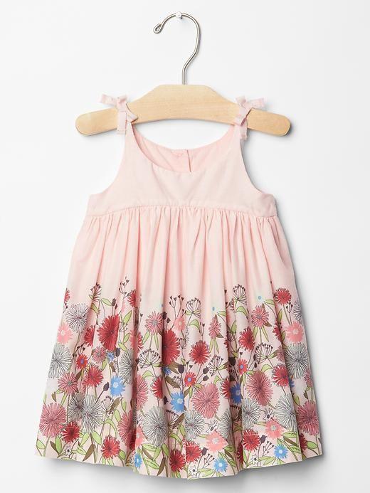 Shirred floral dress