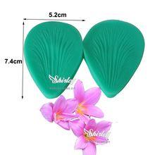 M462 Flor Da Orquídea Pétala Molde Textura de Silicone Molde Do Bolo, Fondant Bolo Ferramenta Veios de Açúcar Fondant Ferramenta 7.4*5.2*0.6 cm(China (Mainland))