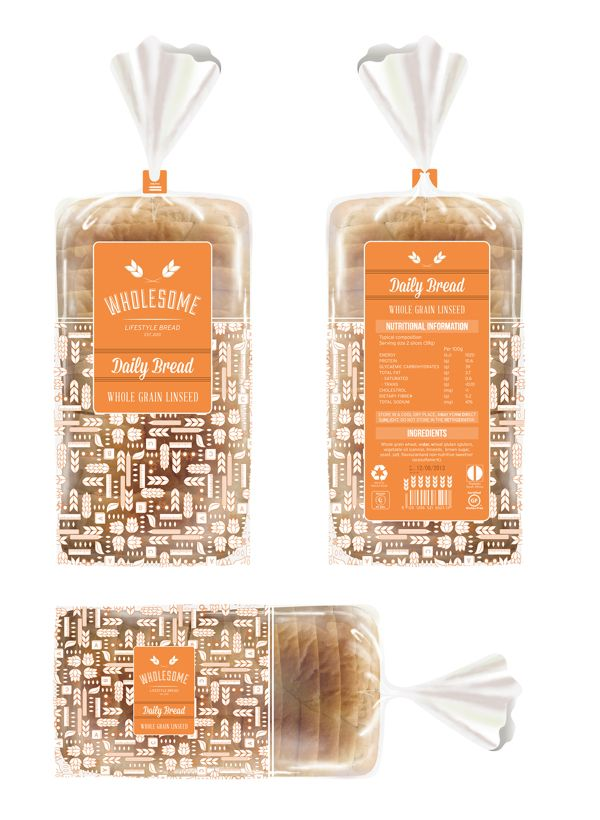 Bread Bag Design by Belinda Bantjes, via Behance
