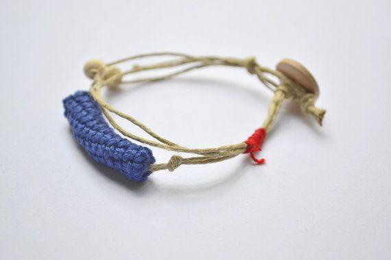 Natural linen bracelet summer bracelet organic by Loulalalou