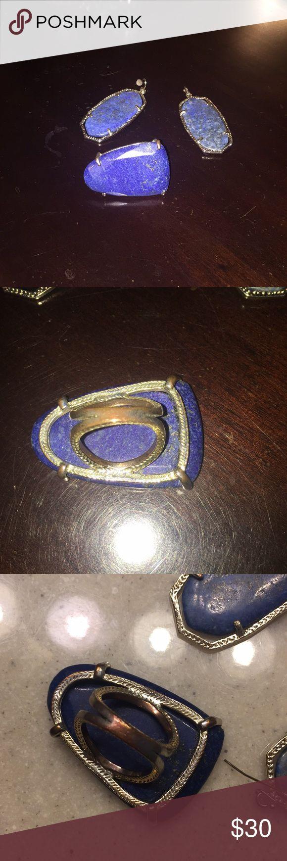Kendra Scott earrings Beautiful Kendra Scott earrings, ring worn a bunch (see signs of wear in band) earrings maybe twice! Kendra Scott Jewelry
