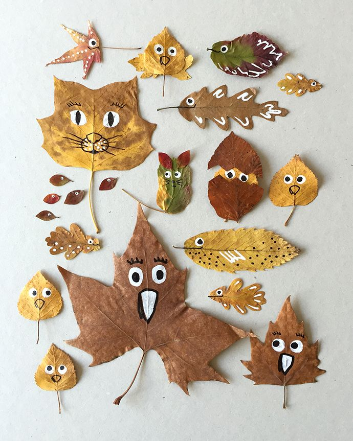 Turn beautiful fallen leaves into fun art projects!