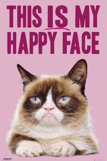 Grumpy Cat Happy face - plakat
