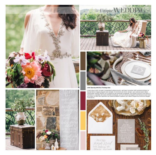 Natural & Earthy Wedding Inspiration by anna-nemesis on Polyvore featuring art
