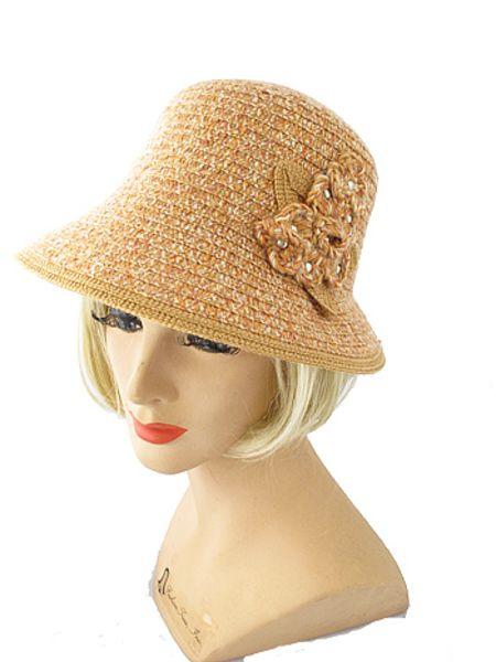79bef84adee0b 1920s Inspired Flower Applique Cloche Hat-Vintage Style Bucket Hats - Blue  Velvet Vintage
