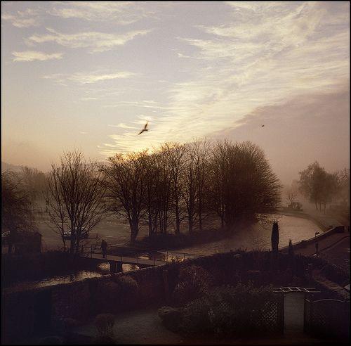 Bakewell, Derbyshire Wye - Dawning Zeiss Ikonta 524/16, AGFA/Rollei CR200 Pro.