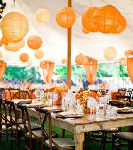 tangerine wedding - Bing Images. this is so nice and different! good for a spring wedding i think.