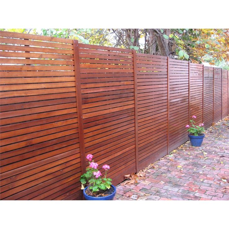 Merbau look screen panel from bunnings external cladding for Horizontal garden screening
