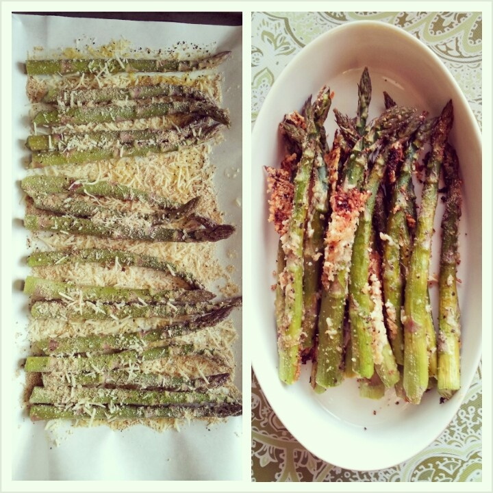 Roasted Asparagus Crusted With Parmigiano Reggiano Recipe ...