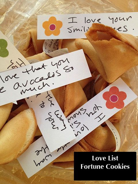 "Love List Fortune Cookies! Google ""homemade fortune cookies"" to find instructions or purchase a kit. :-)"
