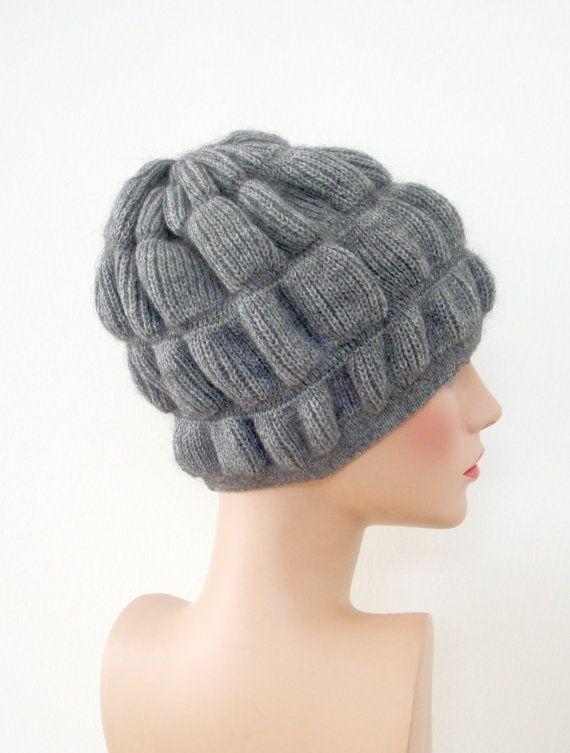 Hand Knit Hat  Women Winter Accessories  Dark Grey by InkaBoutique, $30.00