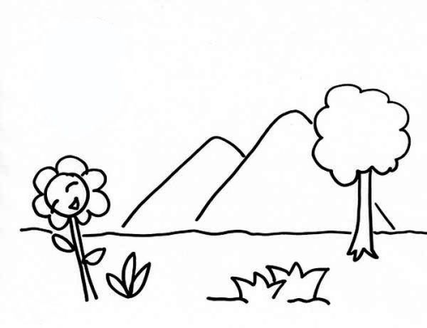 Mountain Scenery Coloring Pages Printable Free Coloring Sheets