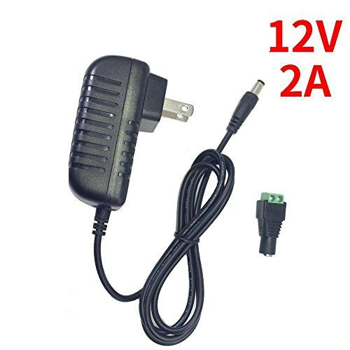 inShareplus 12V LED Strip Power Supply 2A 24W, Wall Mounted 12V Switching Power Supply, 110V to 12 Power Supply for LED Strip Light with 5.5/2.1 DC Female Barrel Connector to Screw Adapter  Input: 100-240V AC; Output: DC 12V 2A  Package include: 1 X 12V 2A AC to DC power adapter and 1 X 5.5/2.1 DC female barrel connector to screw adapter  It comes with a small adapter that has screw terminal which can connect to the lead wire of single color LED strip lights directly  For LED strip lig...