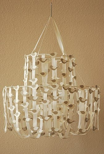 { DIY Ribbon Chandelier ... just like Pottery Barn }  amateur-inspiration.blogspot.com