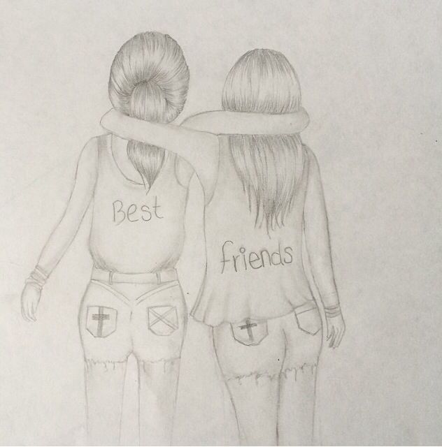 Real Friendship Best Friends Pencil Drawing By Me To Draw Always