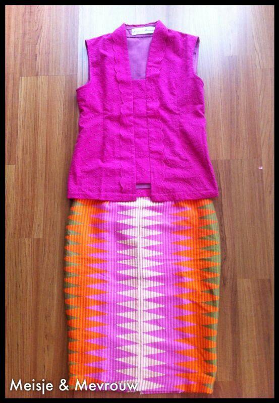 Pink kutubaru and rangrang skirt