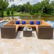 Avery Island 8-Person Resin Wicker Patio Sectional Set