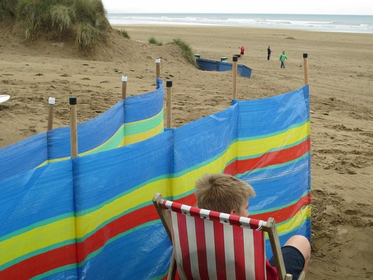 Taking a well earned rest at Saunton Sands in August
