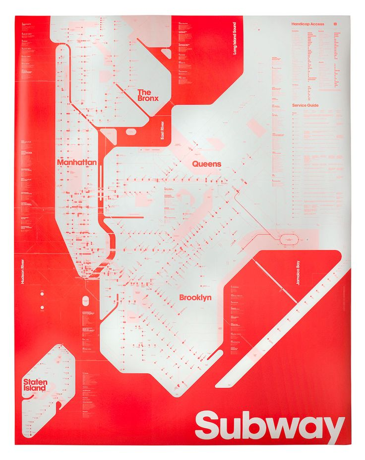 Triboros One Color Subway Map
