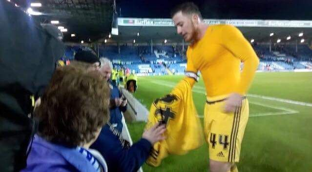 Ross McCormack gave his shirt to a disabled Leeds fan after the 1-1 draw yesterday.