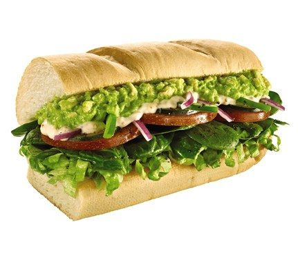 Subway has a secret sandwich menu that includes a Flatbread Egg White Florentine, a Veggie Delite Flatbread Melt, and a Buffalo Chicken and Avocado Sandwich. We say go for the six-inch Ultimate Veggie with Spinach and Avocado (along with lettuce, tomatoes, onions, green peppers and cucumbers) on nine-grain wheat bread for 290 calories.?