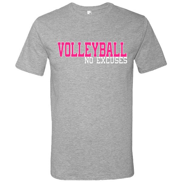 Check out our No Excuses line at All Volleyball! Burpees Volleyball T-Shirt