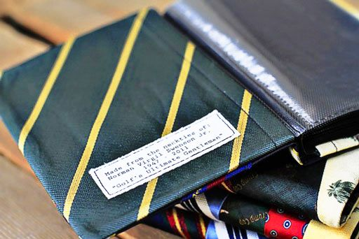 tie wallet diy or photo album diy via lilblueboo.com