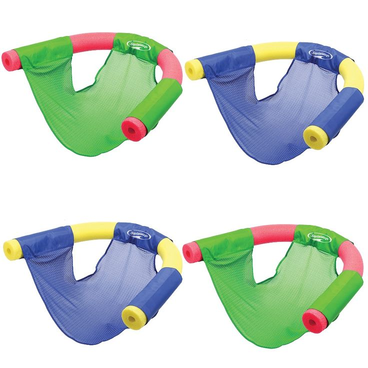 Swimways (Set/4) Swimways Floating Pool Noodle Sling Mesh Chairs - Water Relaxation