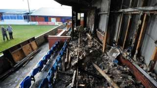 Radcliffe Borough: Stadium fire club's rallying call